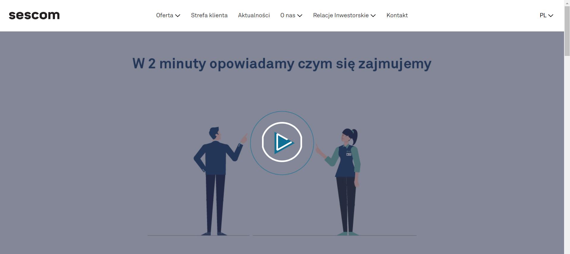 Zrzut ekranu Animacja Sescom PL