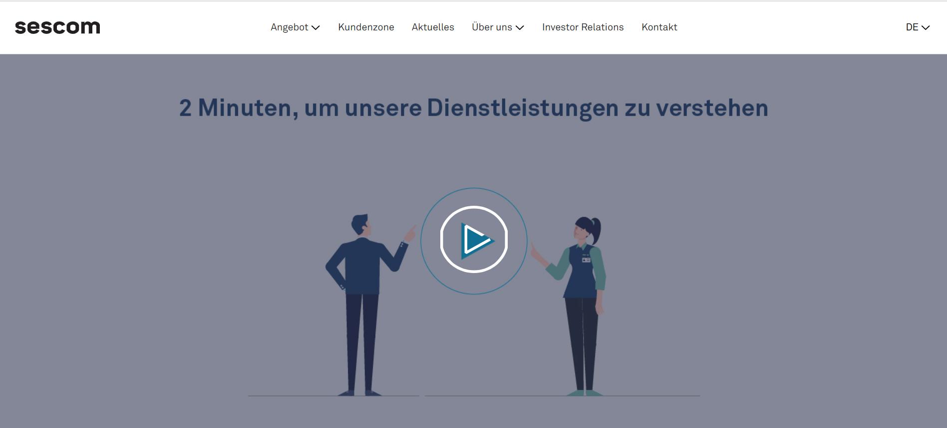 Zrzut ekranu Animacja Sescom DE