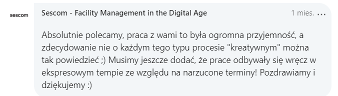 Pochwała Sescom LinkedIn PL